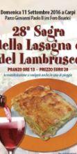 Sagra della Lasagna e del Lambrusco, torna l'immancabile appuntamento cittadino