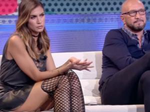 Melissa Satta, il look non passa inosservato: in diretta senza slip