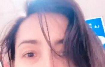 Caterina Balivo casalinga disperata senza trucco al supermercato