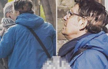 Fabrizio Frizzi sulla testa mostra i segni della malattia