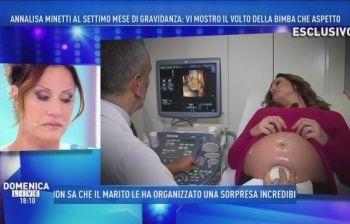 Annalisa Minetti incinta di 7 mesi: