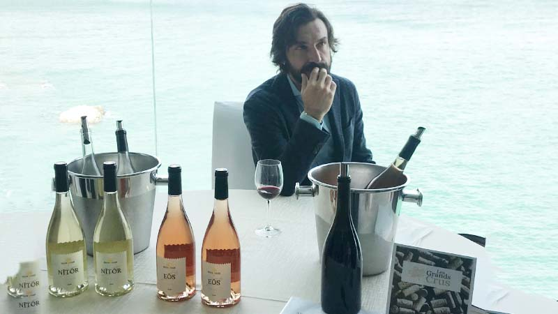 Dal calcio alla vigna, il vino di Pirlo è una prelibatezza