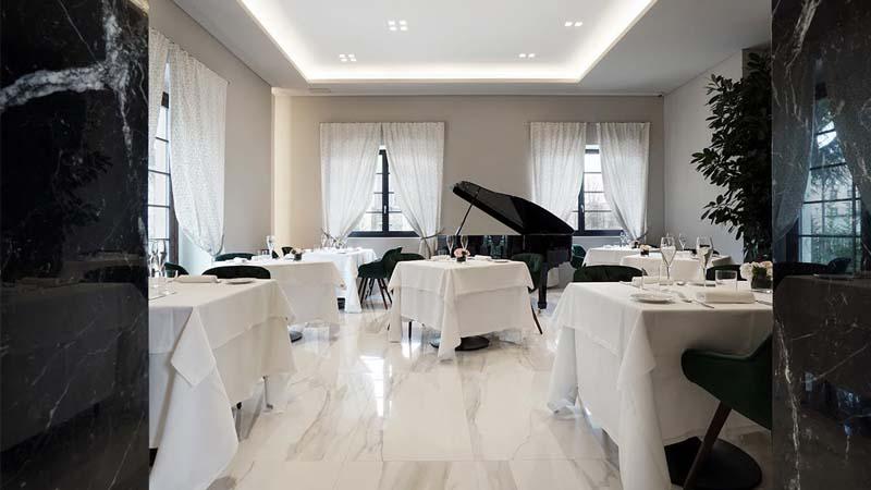 La Torre Razionalista che ospita un moderno e raffinato ristorante