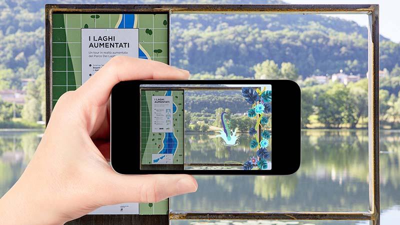Treviso come Loch Ness: nel lago c'è un mostro, ma lo si può vedere solo con lo smartphone