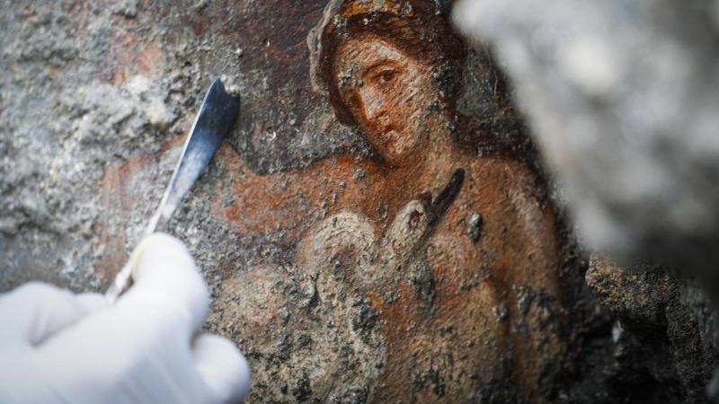 La scena a luci rosse scoperta a Pompei