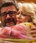 Francesco Pannofino ed Emanuela Rossi a teatro in 'I suoceri albanesi'
