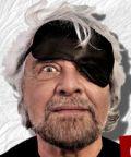 Beppe Grillo in scena con